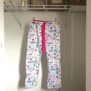 Victorias Secret Pink Holiday Rhinestone Pajamas